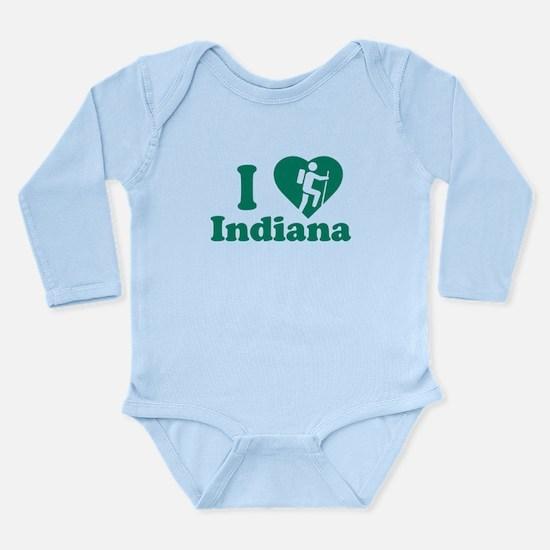 Love Hiking Indiana Long Sleeve Infant Bodysuit