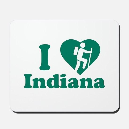 Love Hiking Indiana Mousepad