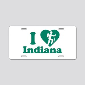 Love Hiking Indiana Aluminum License Plate