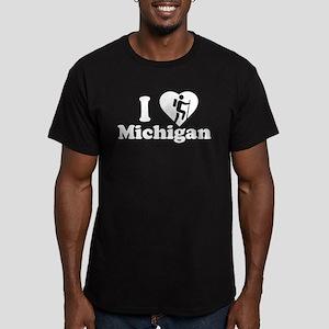 Love Hiking Michigan Men's Fitted T-Shirt (dark)