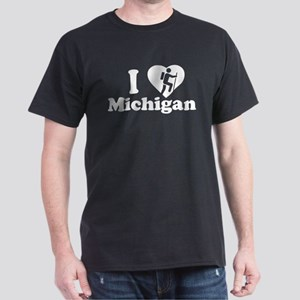Love Hiking Michigan Dark T-Shirt