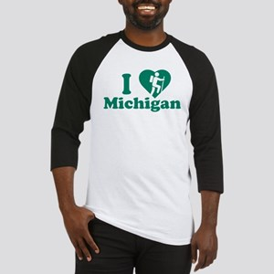 Love Hiking Michigan Baseball Jersey