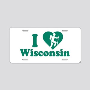 Love Hiking Wisconsin Aluminum License Plate