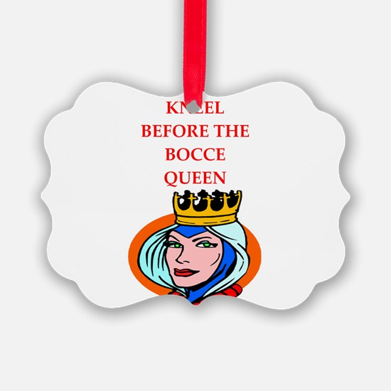 Bocce joke Ornament