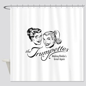 the Trumpettes Shower Curtain
