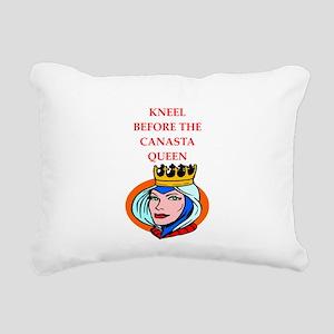 Canasta joke Rectangular Canvas Pillow
