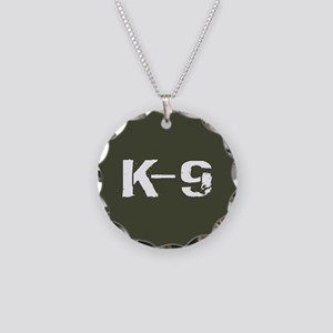 Police: K-9 Dog Handler Necklace Circle Charm