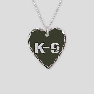Police: K-9 Dog Handler Necklace Heart Charm