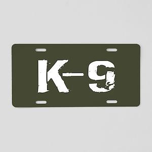 Police: K-9 Dog Handler Aluminum License Plate