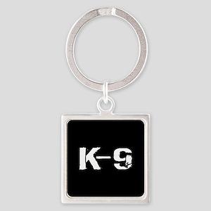 Police: K-9 Dog Handler Square Keychain