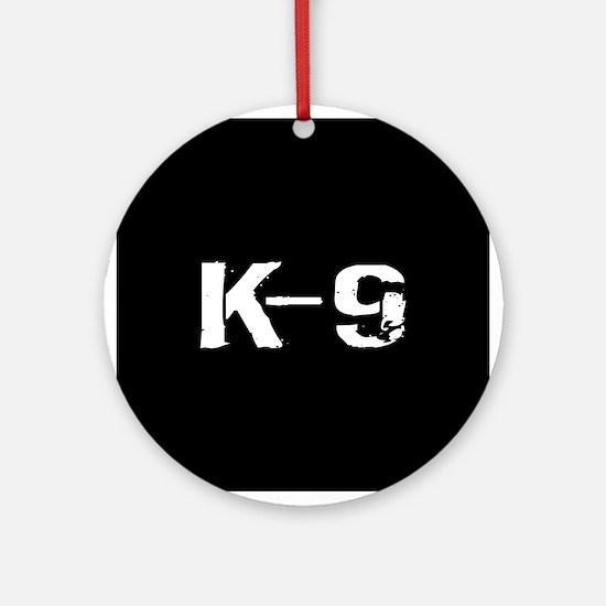 Police: K-9 Dog Handler Round Ornament