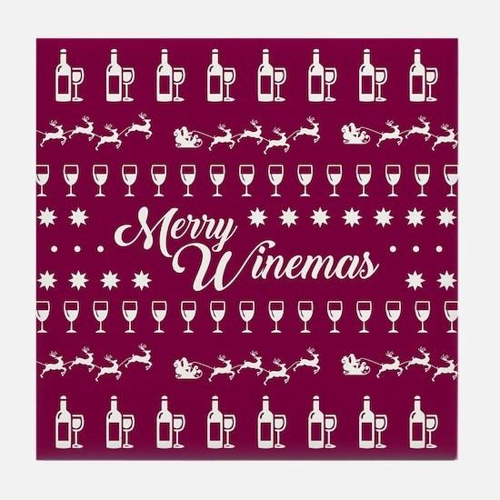 MERRY WINEMAS Tile Coaster