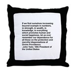 Tyler Quote in Black Letters Throw Pillow