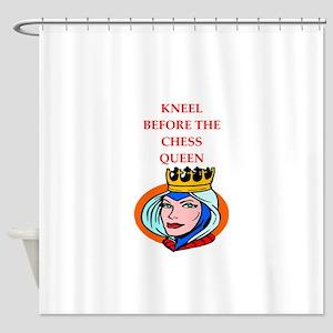 Chess joke Shower Curtain