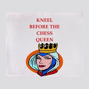 Chess joke Throw Blanket