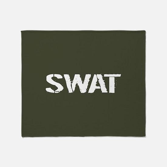Police: SWAT (Stencil) Throw Blanket