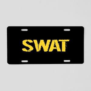 Police: SWAT (Stencil) Aluminum License Plate