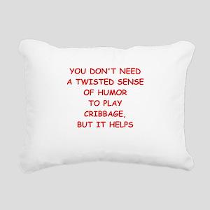 Cribbage joke Rectangular Canvas Pillow