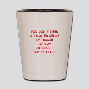 Cribbage joke Shot Glass
