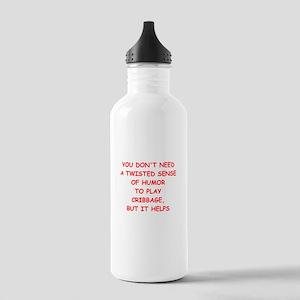 Cribbage joke Water Bottle