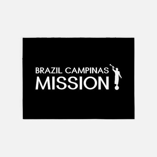 Brazil, Campinas Mission (Moroni) 5'x7'Area Rug