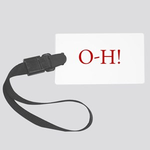 oh, beautiful day! o-h saying, f Large Luggage Tag