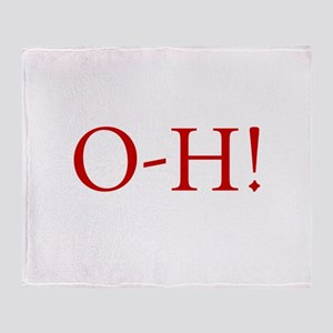 oh, beautiful day! o-h saying, frien Throw Blanket