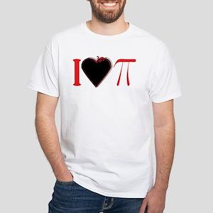 I Heart Pi Red Black T-Shirt