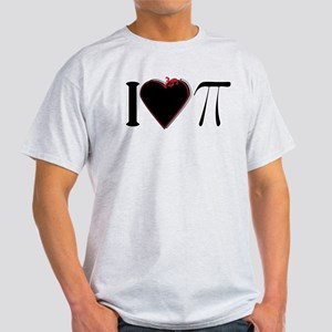 I Heart Pi Black Red T-Shirt