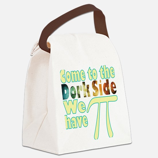 Come to the Dork Side, we have Pi Canvas Lunch Bag