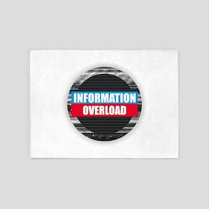 Information Overload 5'x7'Area Rug