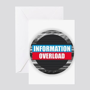 Information Overload Greeting Cards
