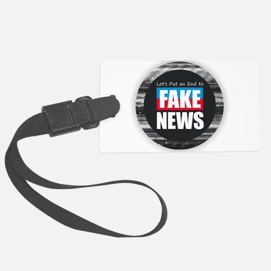 End Fake News Luggage Tag