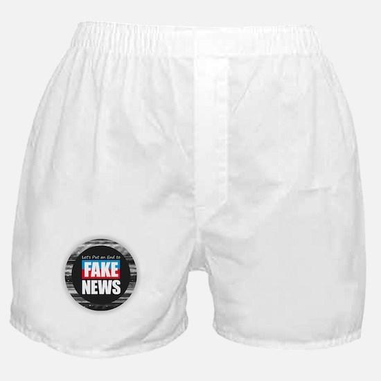 End Fake News Boxer Shorts