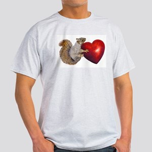 Squirrel Big Red Heart T-Shirt