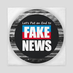 End Fake News Queen Duvet