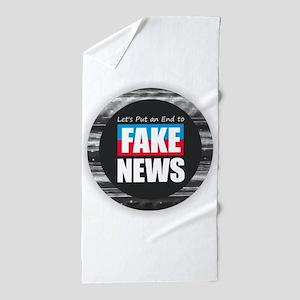End Fake News Beach Towel