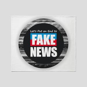 End Fake News Throw Blanket
