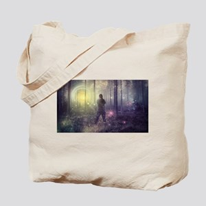 Glowing Light in Forest Tote Bag