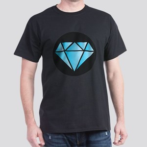 Blue Diamond on Black T-Shirt