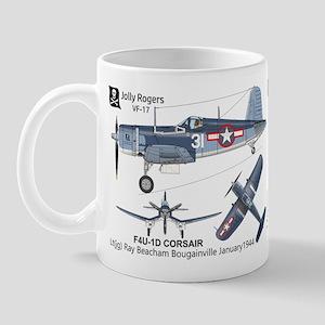 F4u Corsair Vf-17 Jolly Rogers Beachum Mugs