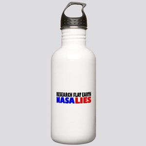 Research Flat Earth NASA LIES Water Bottle