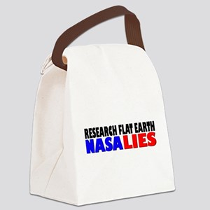 Research Flat Earth NASA LIES Canvas Lunch Bag