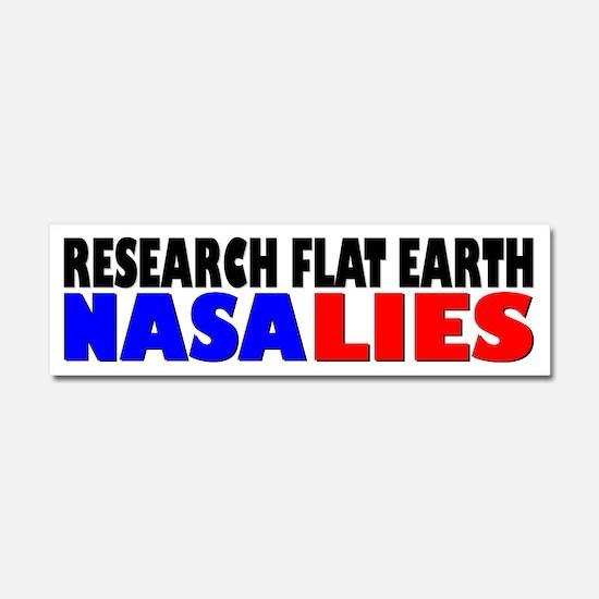 Research Flat Earth NASA LIES Car Magnet 10 x 3