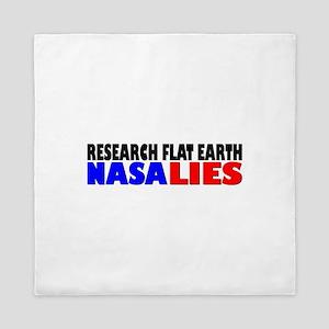 Research Flat Earth NASA LIES Queen Duvet