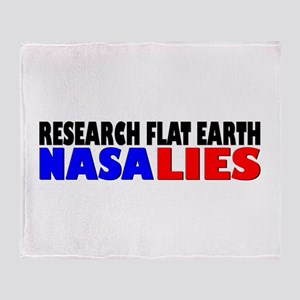 Research Flat Earth Nasa Lies Throw Blanket