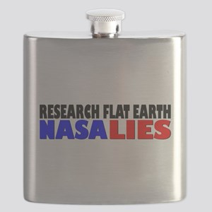 Research Flat Earth NASA LIES Flask