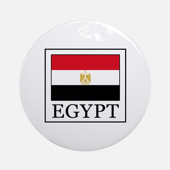 Cute Proud egyptian Round Ornament