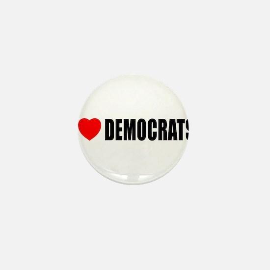 I Love Democrats Mini Button