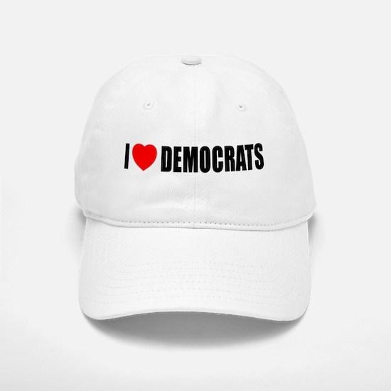 I Love Democrats Baseball Baseball Cap